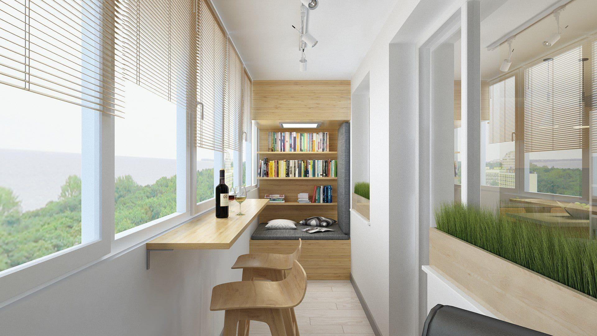 Отделка и оформление балкона