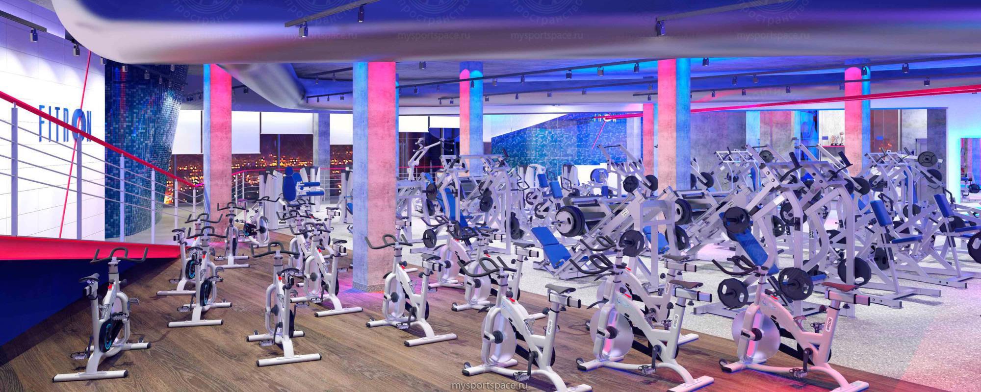 Силовые нагрузки – лишь один из видов занятий спортом в фитнес-клубе «Фитрон»